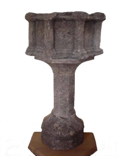English medieval stone credence table
