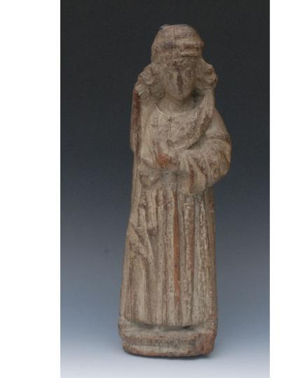 English fifteenth century oak figure of Mary Magdalene