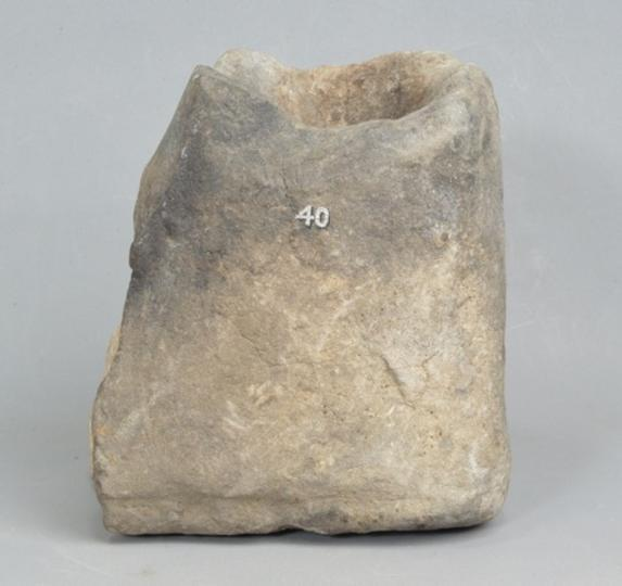 English early medieval stone cresset for lighting