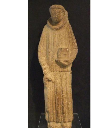 English stone figure of deacon as from Wells Cathedral