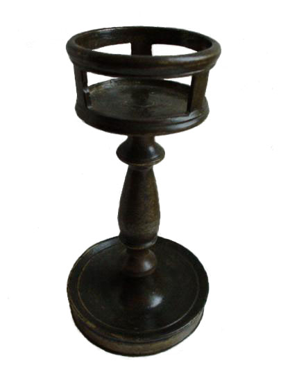 English fifteenth century copper alloy ( bronze ) bunsen burner type candlestick